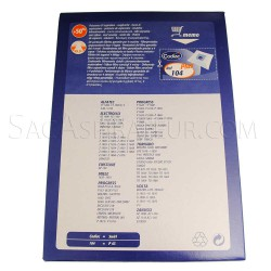 sac aspirateur codiac 104 en vente