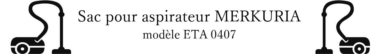 Sac aspirateur MERKURIA ETA 0407 en vente