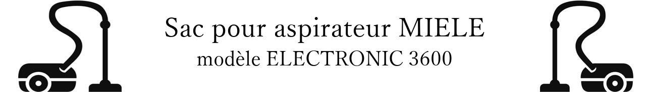 Sac aspirateur MIELE ELECTRONIC 3600 en vente