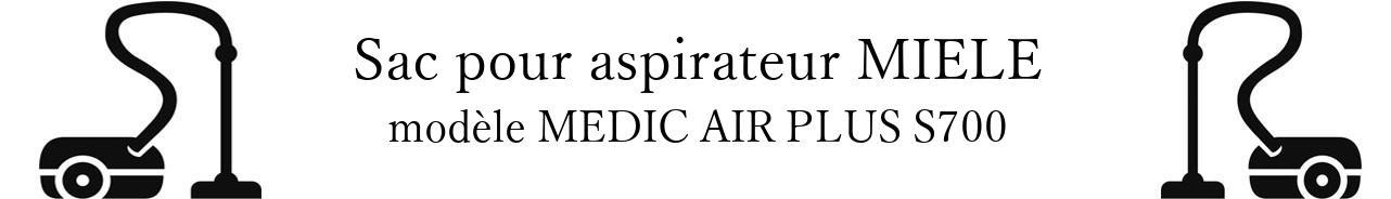 Sac aspirateur MIELE MEDIC AIR PLUS S700 en vente