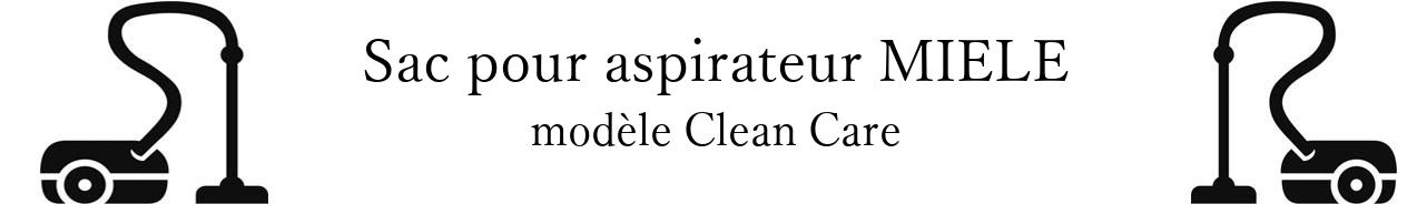 Sac aspirateur MIELE Clean Care en vente