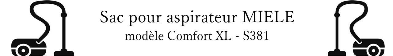 Sac aspirateur MIELE Comfort XL - S381 en vente