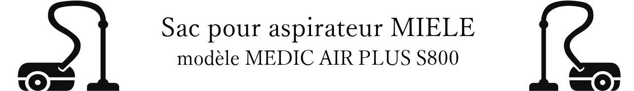 Sac aspirateur MIELE MEDIC AIR PLUS S800 en vente