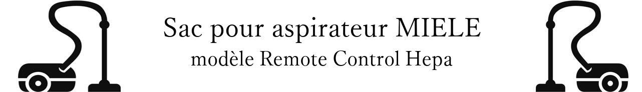 Sac aspirateur MIELE Remote Control Hepa en vente