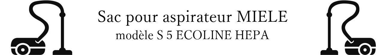 Sac aspirateur MIELE S 5 ECOLINE HEPA en vente