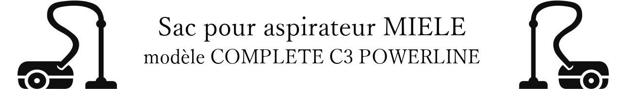 Sac aspirateur MIELE COMPLETE C3 POWERLINE en vente