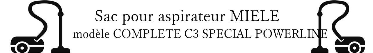 Sac aspirateur MIELE COMPLETE C3 SPECIAL POWERLINE en vente