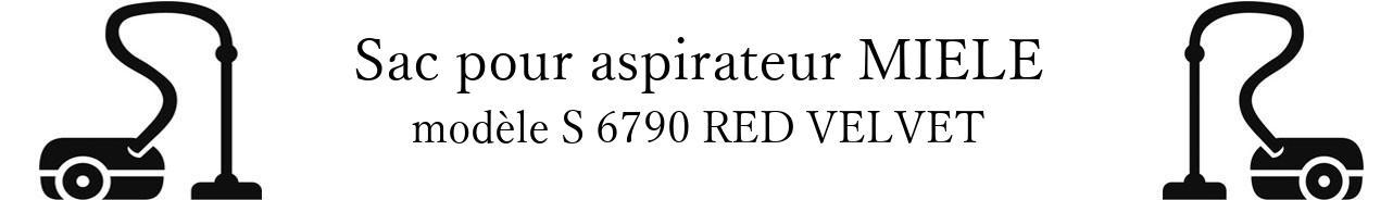 Sac aspirateur MIELE S 6790 RED VELVET en vente