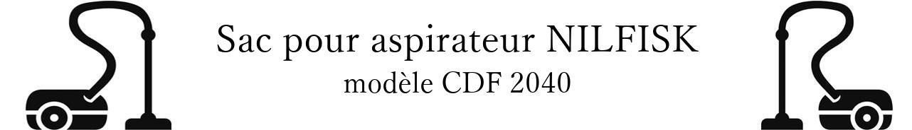 Sac aspirateur NILFISK CDF 2040 en vente