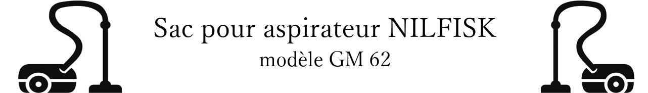 Sac aspirateur NILFISK GM 62 en vente
