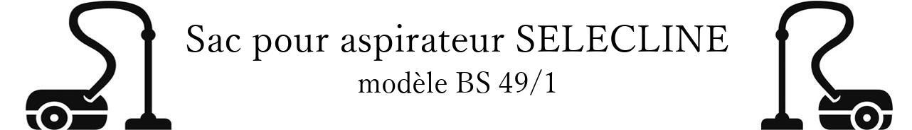 Sac aspirateur SELECLINE BS 49/1 en vente