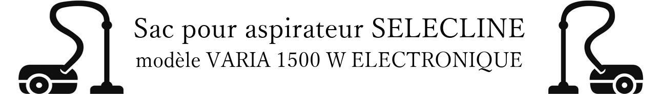 Sac aspirateur SELECLINE VARIA 1500 W ELECTRONIQUE en vente