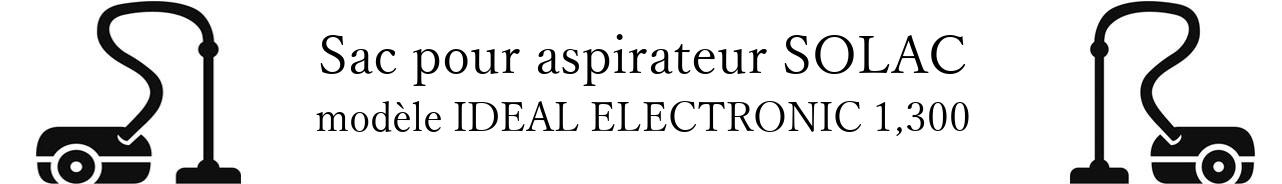 Sac aspirateur SOLAC IDEAL ELECTRONIC 1,300 en vente