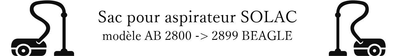 Sac aspirateur SOLAC AB 2800 -> 2899 BEAGLE en vente