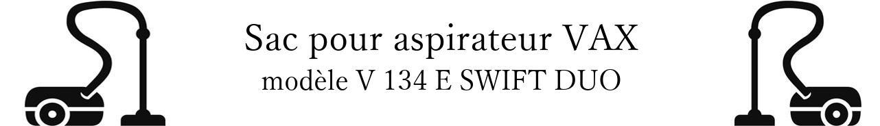 Sac aspirateur VAX V 134 E SWIFT DUO en vente