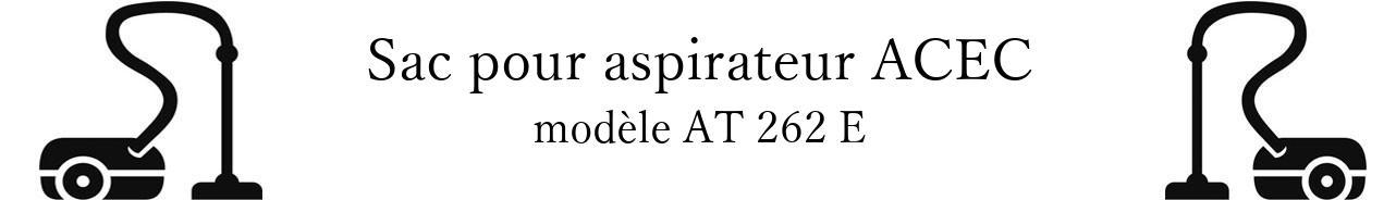 Sac aspirateur ACEC AT 262 E en vente