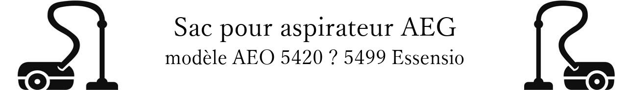 Sac aspirateur AEG AEO 5420  5499 Essensio en vente