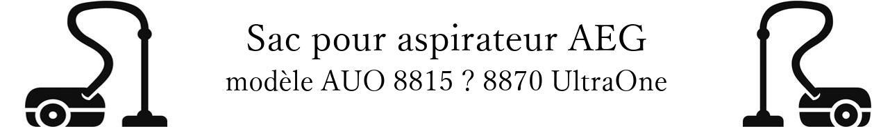Sac aspirateur AEG AUO 8815  8870 UltraOne en vente