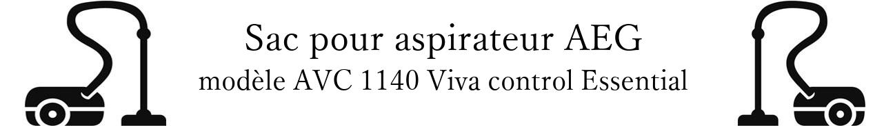 Sac aspirateur AEG AVC 1140 Viva control Essential en vente