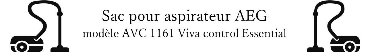 Sac aspirateur AEG AVC 1161 Viva control Essential en vente