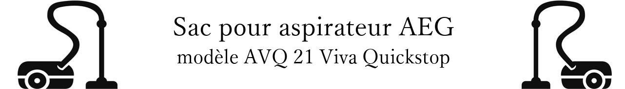 Sac aspirateur AEG AVQ 21 Viva Quickstop en vente