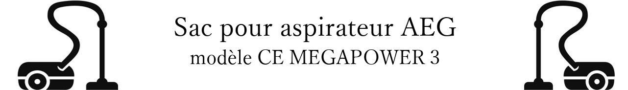 Sac aspirateur AEG CE MEGAPOWER 3 en vente