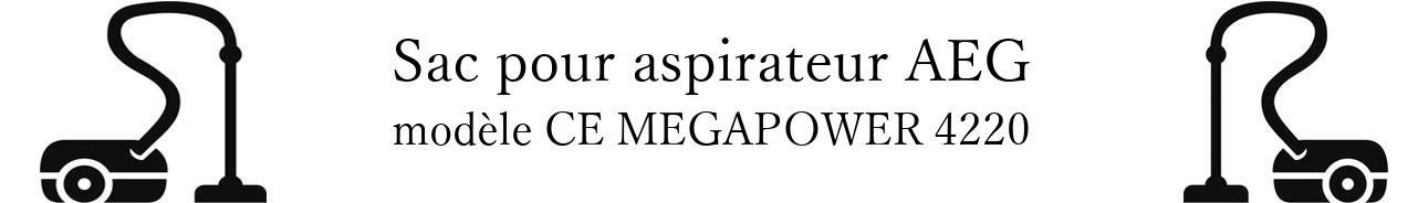 Sac aspirateur AEG CE MEGAPOWER 4220 en vente