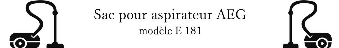 Sac aspirateur AEG E 181 en vente