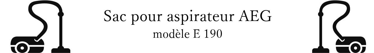 Sac aspirateur AEG E 190 en vente