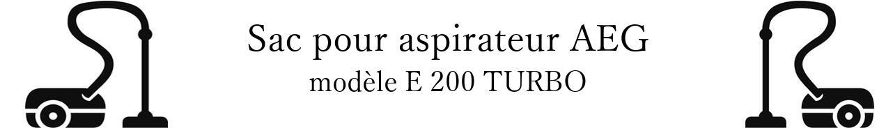 Sac aspirateur AEG E 200 TURBO en vente