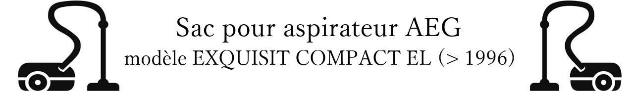 Sac aspirateur AEG EXQUISIT COMPACT EL (> 1996) en vente
