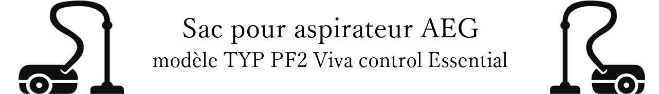 Sac aspirateur AEG TYP PF2 Viva control Essential en vente