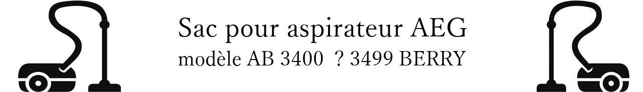 Sac aspirateur AEG AB 3400   3499 BERRY en vente