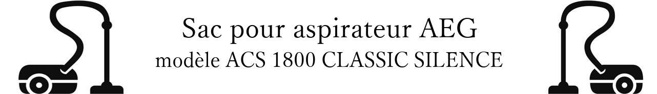 Sac aspirateur AEG ACS 1800 CLASSIC SILENCE  en vente