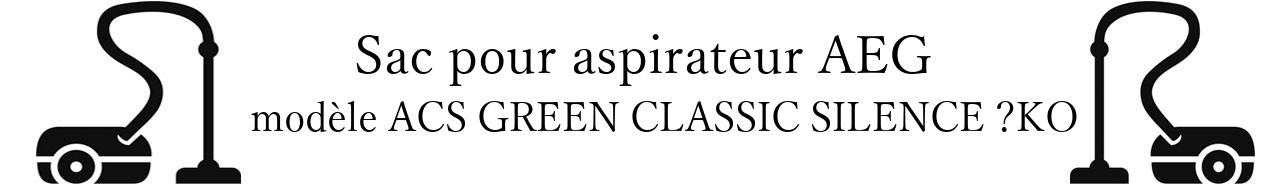 Sac aspirateur AEG ACS GREEN CLASSIC SILENCE KO  en vente