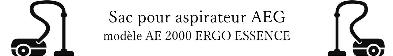 Sac aspirateur AEG AE 2000 ERGO ESSENCE  en vente