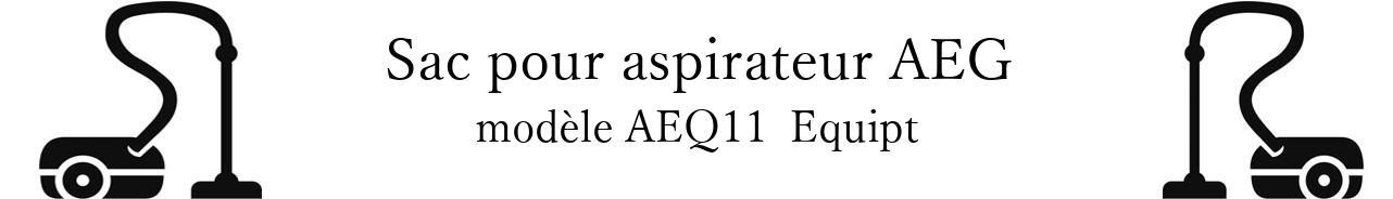 Sac aspirateur AEG AEQ11+ Equipt en vente