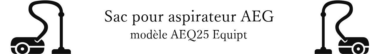 Sac aspirateur AEG AEQ25+Equipt en vente