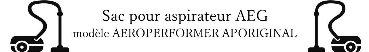 Sac aspirateur AEG AEROPERFORMER APORIGINAL en vente