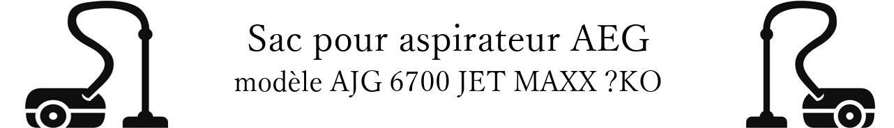 Sac aspirateur AEG AJG 6700 JET MAXX KO  en vente