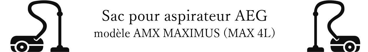 Sac aspirateur AEG AMX MAXIMUS (MAX 4L) en vente