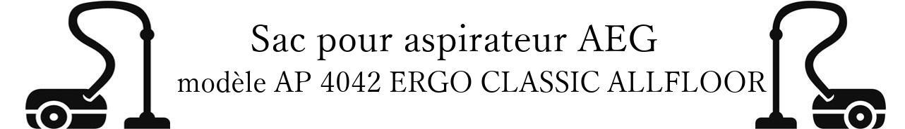 Sac aspirateur AEG AP 4042 ERGO CLASSIC ALLFLOOR en vente