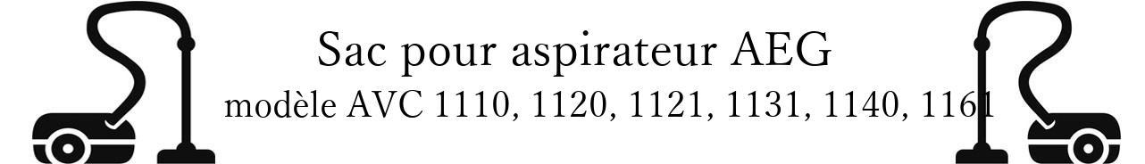 Sac aspirateur AEG AVC 1110, 1120, 1121, 1131, 1140, 1161 en vente