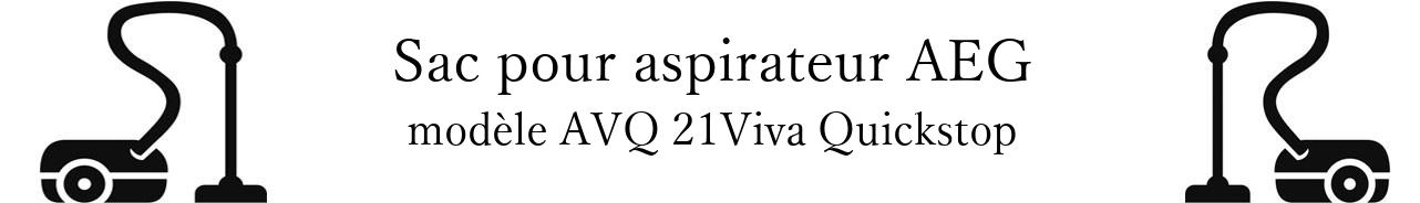Sac aspirateur AEG AVQ 21Viva Quickstop en vente
