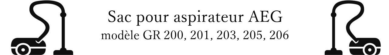 Sac aspirateur AEG GR 200, 201, 203, 205, 206 en vente