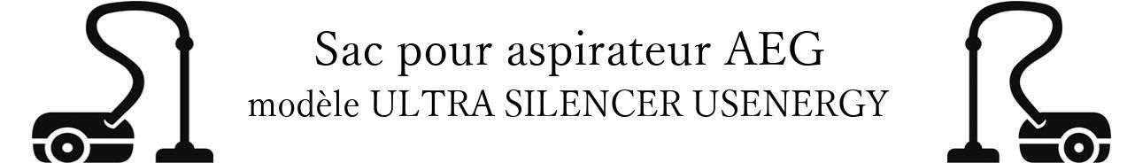 Sac aspirateur AEG ULTRA SILENCER USENERGY en vente
