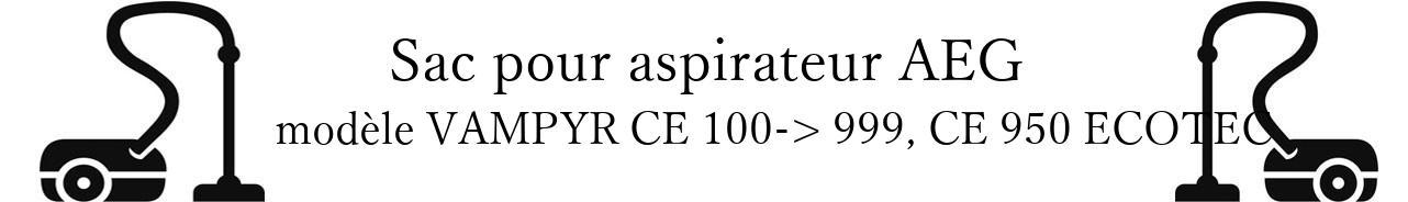 Sac aspirateur AEG VAMPYR CE 100-> 999, CE 950 ECOTEC en vente