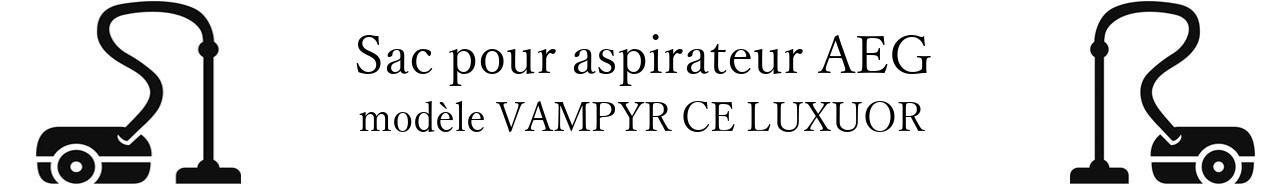 Sac aspirateur AEG VAMPYR CE LUXUOR en vente