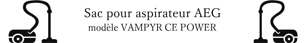 Sac aspirateur AEG VAMPYR CE POWER en vente