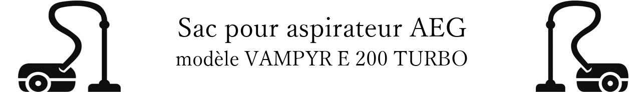 Sac aspirateur AEG VAMPYR E 200 TURBO en vente
